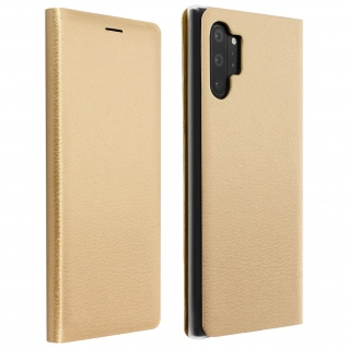 Flip Book Cover, Klappetui aus Kunstleder für Samsung Galaxy Note 10 Plus ? Gold
