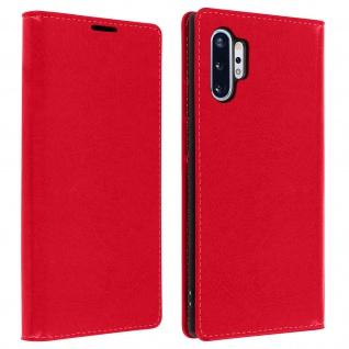 Business Leder Cover, Schutzhülle mit Geldbörse Galaxy Note 10 Plus - Rot