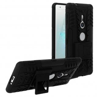 Schutzhülle mit Hartschale + Standfunktion für Sony Xperia XZ2 ? Schwarz