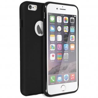 Schutzhülle für Apple iPhone 6, iPhone 6S, Vorder- + Rückseite ? Schwarz