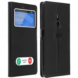 Sony Xperia XZ2 Flip Cover mit Doppelfenster & Standfunktion ? Schwarz