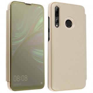 Huawei P Smart plus 2019 Flip Cover mit Spiegeleffekt & Standfunktion - Gold