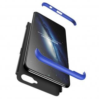Handyhülle Oppo AX7, Hardcase mit erhöhten Kanten - Schwarz / Blau