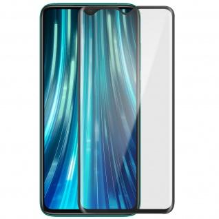 Premium Glas-Schutzfolie für Xiaomi Redmi Note 8 Pro - Rand Schwarz