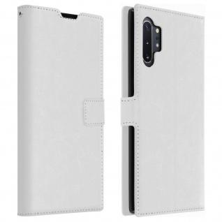 Flip Cover Stand Case Brieftasche & Standfunktion für Galaxy Note 10 Plus - Weiß