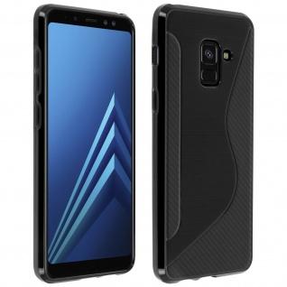 Samsung Galaxy A8 S-Line Schutzhülle aus Silikon - Schwarz
