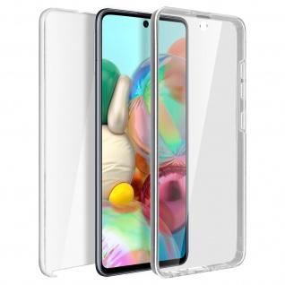 Schutzhülle für Samsung Galaxy A71, Vorder- + Rückseite ? Transparent