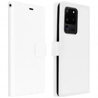 Flip Cover Stand Case Brieftasche & Standfunktion Galaxy S20 Ultra - Weiß
