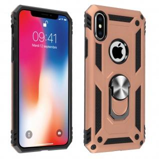 Hybrid Handyhülle mit Ring Halterung für Apple iPhone X, iPhone XS ? Rosegold