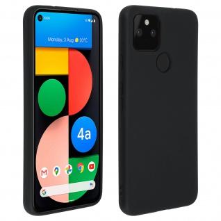 Halbsteife Silikon Handyhülle für Google Pixel 4A 5G, Soft Touch - Schwarz