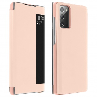 Window View Klapphülle, Etui mit Sichtfenster für Samsung Galaxy Note 20 ? Rosa