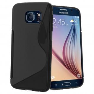 Samsung Galaxy S6 S-Line Schutzhülle aus Silikon - Schwarz