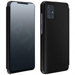 Mirror Klapphülle, Spiegelhülle für Samsung Galaxy A71 - Schwarz