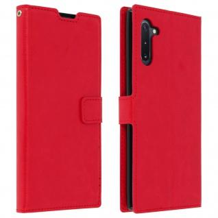 Flip Cover Stand Case Brieftasche & Standfunktion für Galaxy Note 10 - Rot