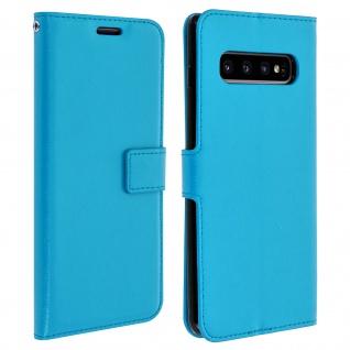 Flip Stand Cover Brieftasche & Standfunktion für Samsung Galaxy S10 Plus - Blau