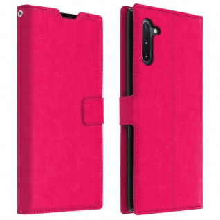 Flip Cover Stand Case Brieftasche & Standfunktion Galaxy Note 10 - Fuchsienrot