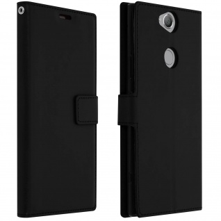 Flip Stand Cover Brieftasche & Standfunktion Sony Xperia XA2 Plus - Schwarz