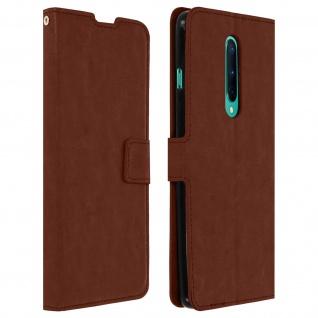 Flip Stand Case Brieftasche & Standfunktion für OnePlus 8 - Braun