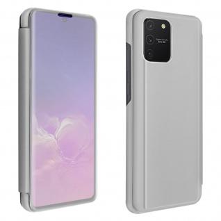 Samsung Galaxy S10 Lite Cover mit Spiegeleffekt & Standfunktion - Silber