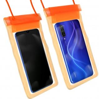 Wasserdichte Handyhülle für Smartphones, mit Trageschlaufe - Orange