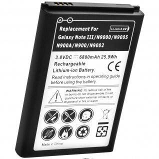 Samsung Galaxy Note 3 N9000 6800 Mah Hochleistungsakku + Akkufachdeckel