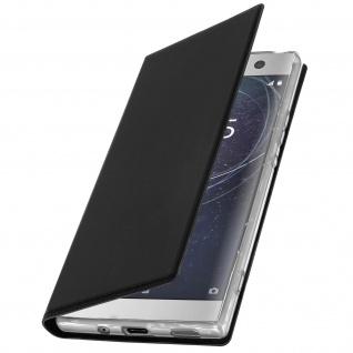 Flip Cover für Sony Xperia XA2 Ultra mit Kartenfach & Standfunktion - Schwarz