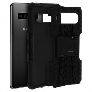 Stoßfeste Schutzhülle + Standfunktion für Samsung Galaxy S10 Plus - Schwarz