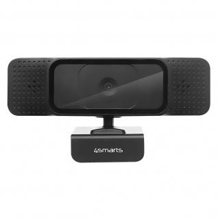 4Smarts Full-HD Webcam, für Videoanrufe, Schulklassen, Interviews - Schwarz