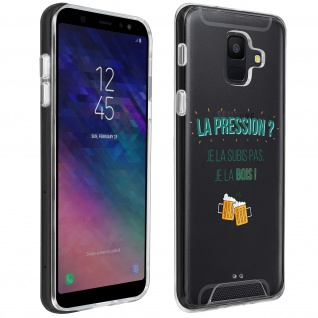 "Handyhülle für Samsung Galaxy A6, Made in France ? "" La pression"" Design"