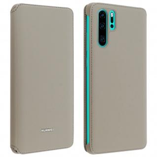 Original Huawei Wallet Cover, Klapphülle für Huawei P30 Pro â€? Graubeige