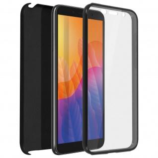 Schutzhülle für Huawei Y5p, Vorder- + Rückseite ? Schwarz
