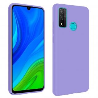 Halbsteife Silikon Handyhülle Huawei P smart 2020, Soft Touch - Violett