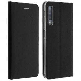Samsung Galaxy A7 2018 Flip Cover mit Kartenschlitz & Standfunktion - Schwarz
