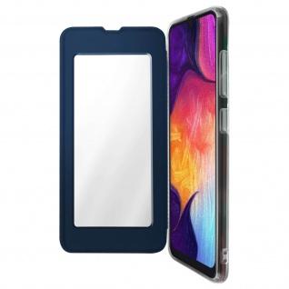 Spiegel Hülle, dünne Klapphülle für Samsung Galaxy A50 - Dunkelblau