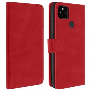 Flip Stand Case Brieftasche & Standfunktion für Google Pixel 4A 5G ? Rot