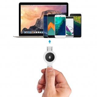 Micro-USB / USB Nylon Kabel, Lade- & Synchronisationskabel, 2A - Weiß - Vorschau 5