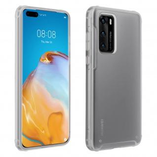 Stoßfeste Handyhülle, Milchglas Rückseite für Huawei P40 ? Transparent