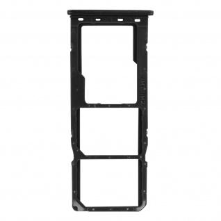 2x SIM + 1x Micro-SD Kartenhalter Ersatzteil für Xiaomi Redmi Note 9 ? Schwarz
