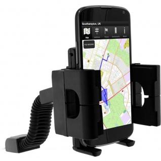 Universal Halterung für Smartphones mit Rückspiegel-Befestigung - Motorrad/Moped