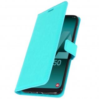 Flip Stand Cover Brieftasche & Standfunktion für Samsung Galaxy A50 - Türkisblau - Vorschau 2