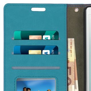 Flip Cover Stand Case Brieftasche & Standfunktion für Sony Xperia XZ2 - Blau - Vorschau 4