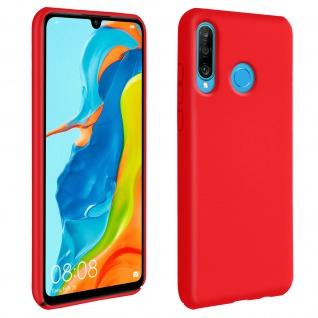 Halbsteife Silikon Handyhülle Huawei P30 Lite, Soft Touch - Rot