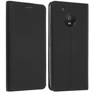 Flip-Cover Motorola / Lenovo Moto G5 Kartenfach & Standfunktion - Schwarz