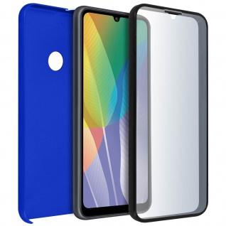 Schutzhülle für Huawei Y6p, Vorder- + Rückseite ? Blau