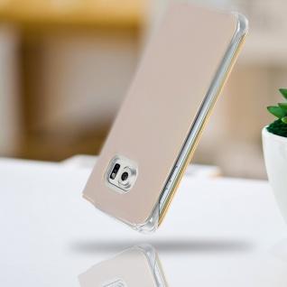 S-View Flip Book Cover, Schutzhülle mit Geldbörse für Galaxy S6 Edge - Gold - Vorschau 4
