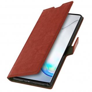 Flip Cover Stand Case Brieftasche & Standfunktion für Galaxy Note 10 - Braun - Vorschau 2