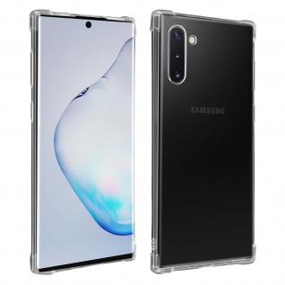 Flexible Samsung Galaxy Note 10 Silikon Bumper Hülle, stoßfest - Transparent