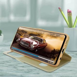 Samsung Galaxy A71 Flip Cover Doppelfenster & Standfunktion - Gold - Vorschau 4