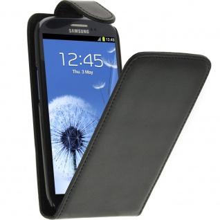 Vertikale Flip-Schutzhülle für Samsung Galaxy S3 und Galaxy S3 4G - Schwarz