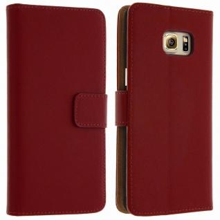 Samsung Galaxy S6 Edge Plus Flip-Schutzhülle Brieftasche Rot - Standfunktion
